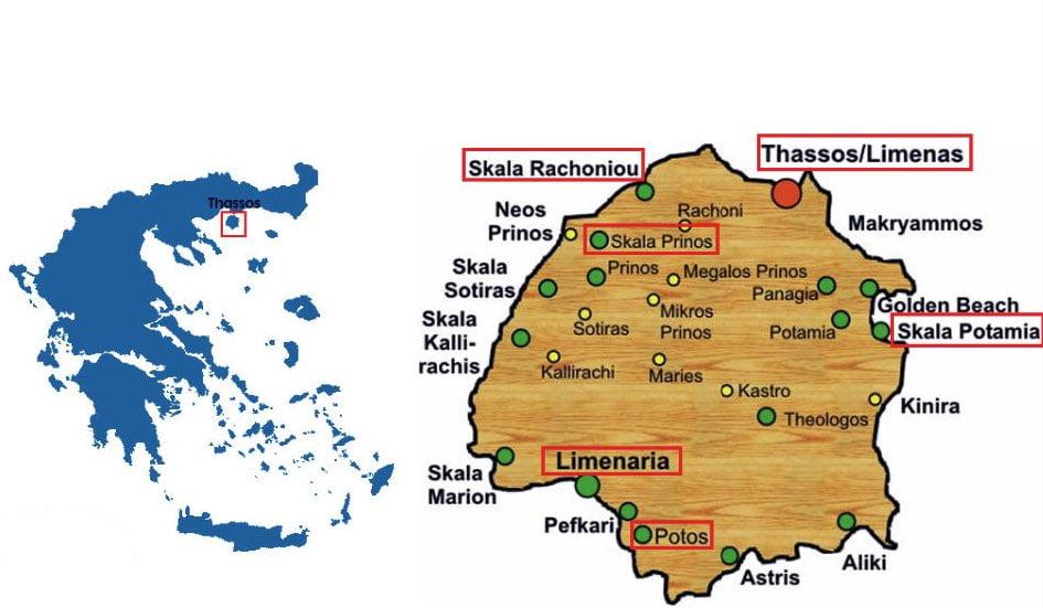 thassos nerede harita