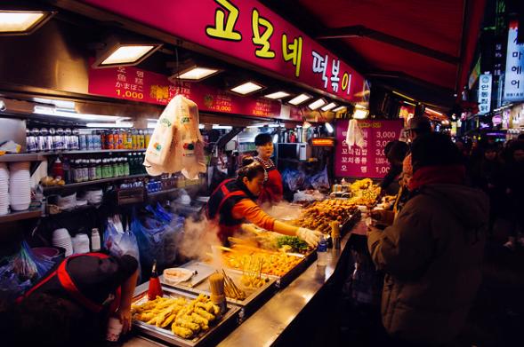 Myeong-dong Sokak Lezzetleri