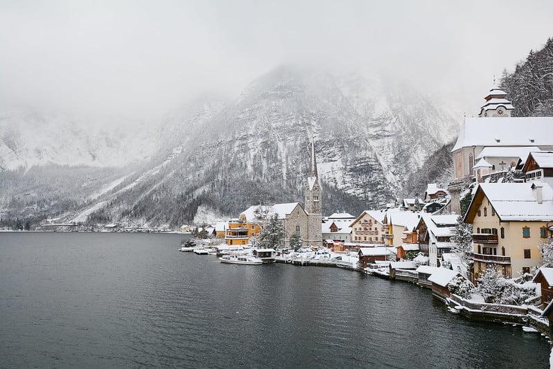 Hallstatt Kış Avusturya