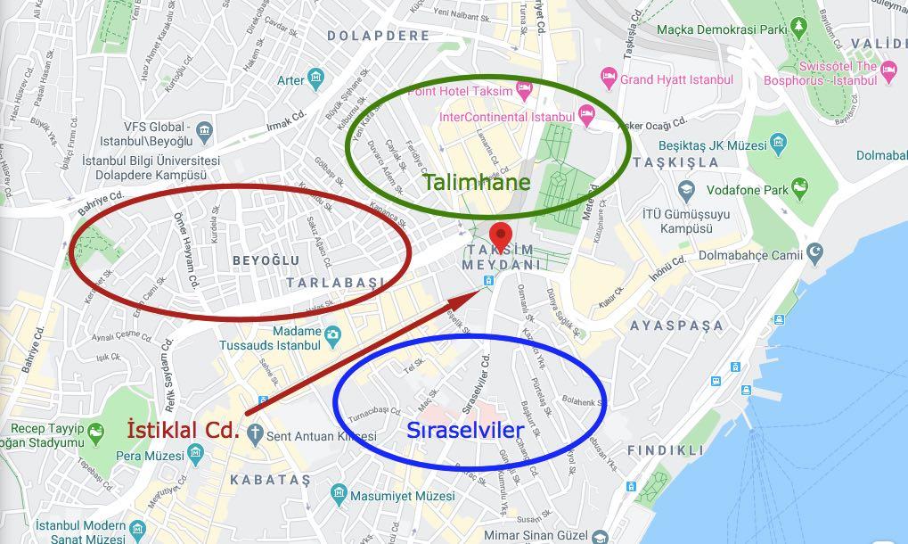 taksim haritası